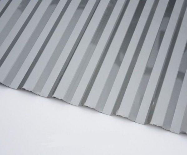 Кровельный профилированный монолитный поликарбонат серый