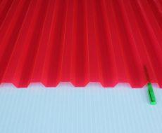 Кровельный профилированный монолитный поликарбонат красный